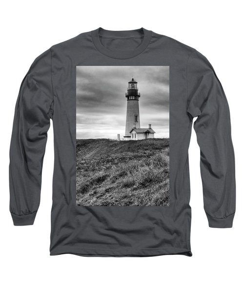 Yaquina Head Lighthouse - Monochrome Long Sleeve T-Shirt