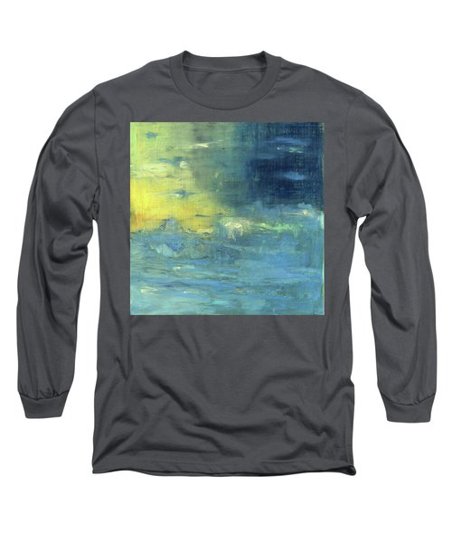 Long Sleeve T-Shirt featuring the painting Yearning Tides by Michal Mitak Mahgerefteh