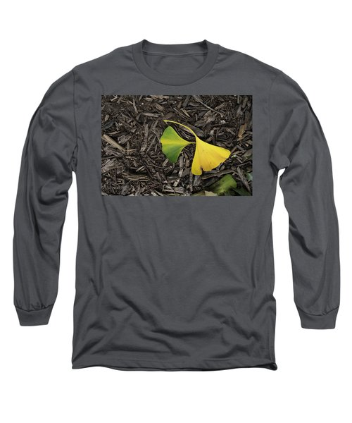 Yellow And Green Gingko Long Sleeve T-Shirt