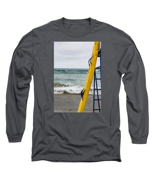 Yellow Surfboard Long Sleeve T-Shirt