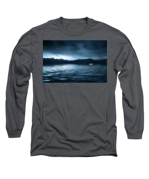Long Sleeve T-Shirt featuring the photograph Yellow Boat by Bess Hamiti