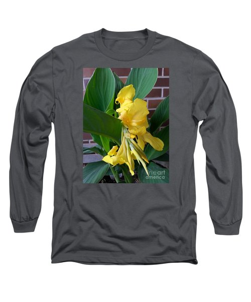 Yellow Canna Long Sleeve T-Shirt