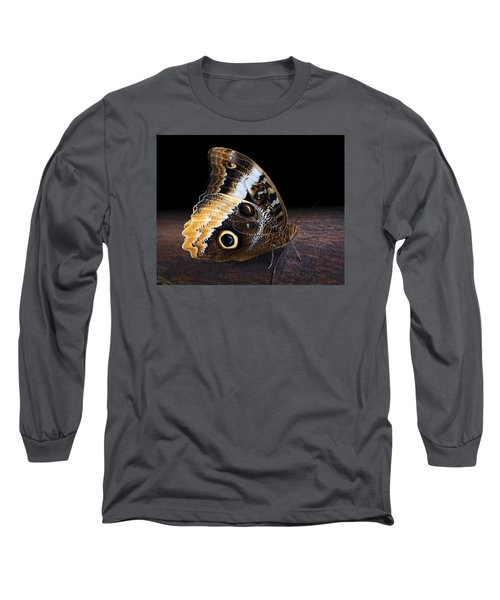 Yellow-edged Giant Owl Butterfly Long Sleeve T-Shirt