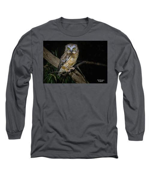 Yellow Eyes In The Dark Long Sleeve T-Shirt