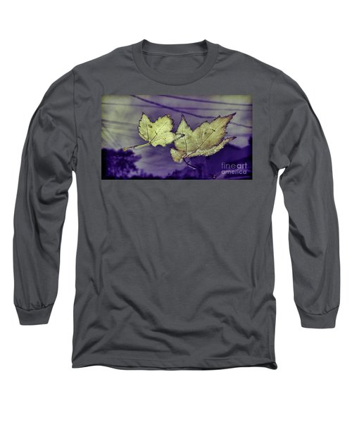 Yellow Leaves On  Windshield Long Sleeve T-Shirt