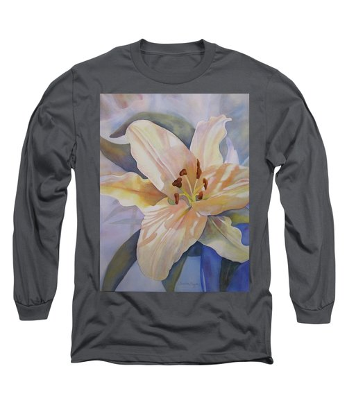Yellow Lily Long Sleeve T-Shirt by Teresa Beyer