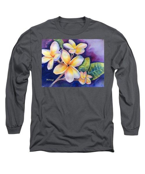 Yellow Plumeria Flowers Long Sleeve T-Shirt