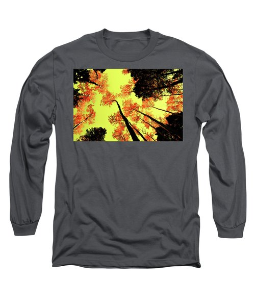Yellow Sky, Burning Leaves Long Sleeve T-Shirt by Kevin Munro