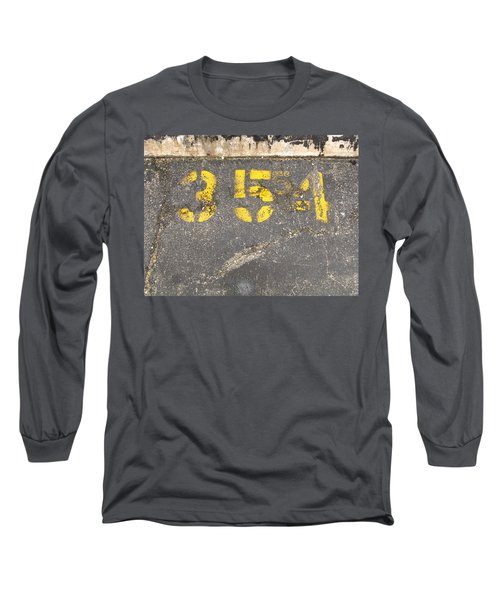 Yellow Three Five Five Four Long Sleeve T-Shirt