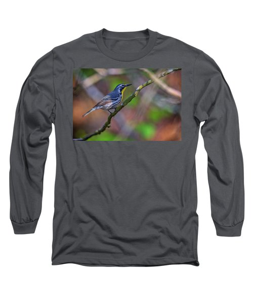 Yellow-throated Warbler Long Sleeve T-Shirt by Rick Berk