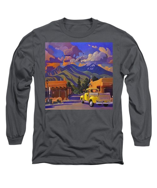 Yellow Truck Square Long Sleeve T-Shirt