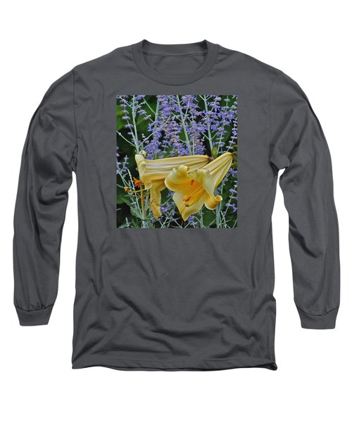 Yellow Trumpets Long Sleeve T-Shirt by Janis Nussbaum Senungetuk