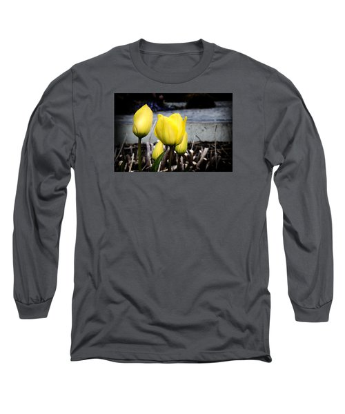 Yellow Tulips Long Sleeve T-Shirt