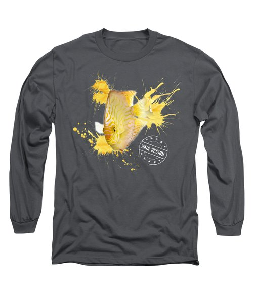 Yellow Pigeon Blood Discus No 01 Long Sleeve T-Shirt