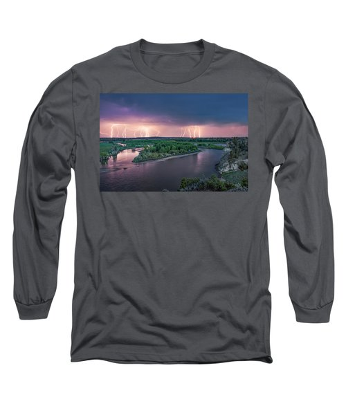 Yellowstone River Lightning Long Sleeve T-Shirt