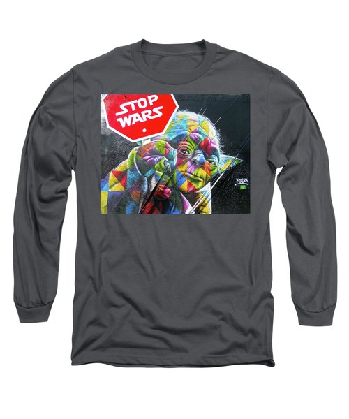 Yoda - Stop Wars Long Sleeve T-Shirt