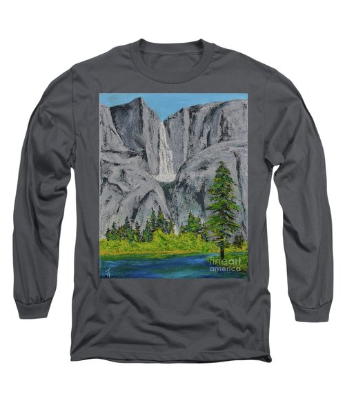 Yosemite Upper Falls Long Sleeve T-Shirt