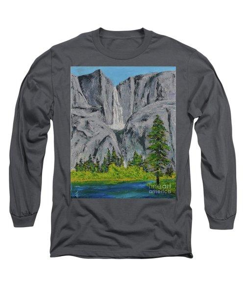 Yosemite Upper Falls Long Sleeve T-Shirt