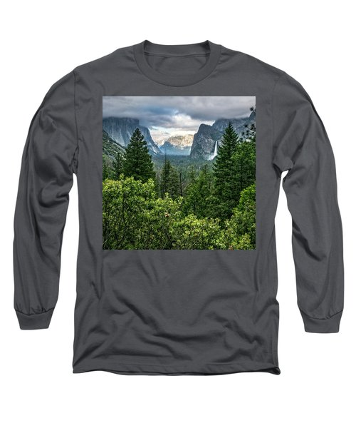 Last Light For Tunnel View Long Sleeve T-Shirt by Ryan Weddle