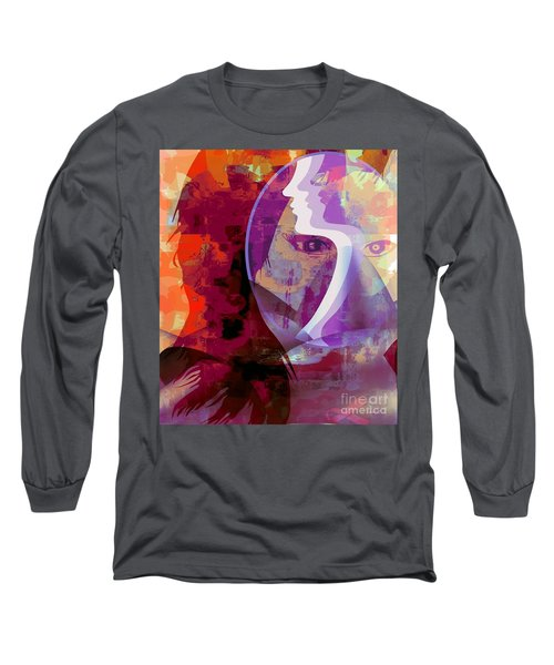 Long Sleeve T-Shirt featuring the mixed media You Can Beat It by Fania Simon