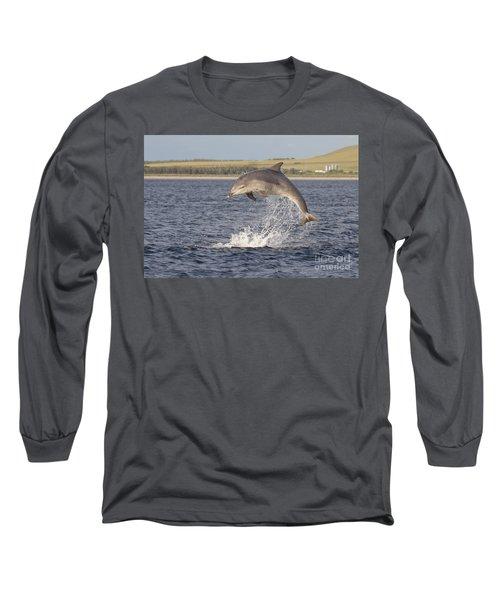Young Bottlenose Dolphin - Scotland #13 Long Sleeve T-Shirt