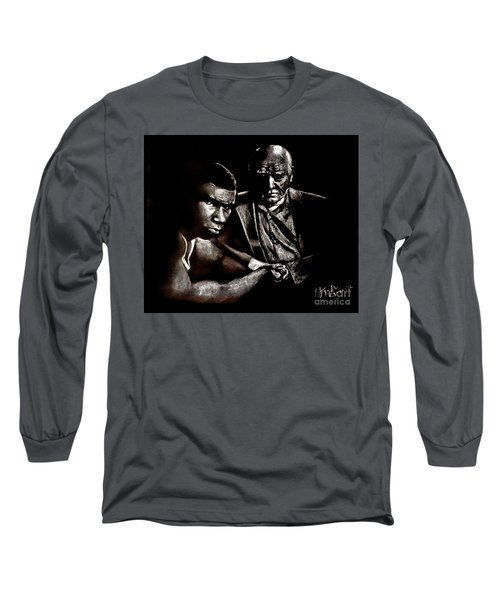 Young Boxer And Soon To Be World Champion Mike Tyson And Trainer Cus Damato Long Sleeve T-Shirt