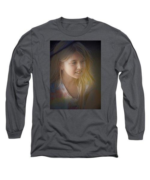 Young Girl Long Sleeve T-Shirt by Lori Seaman
