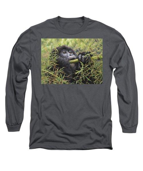 Young Mountain Gorilla Long Sleeve T-Shirt