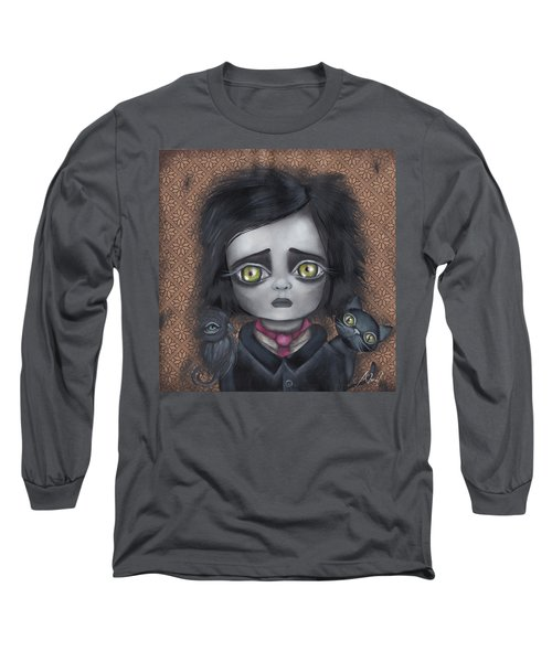 Young Poe Long Sleeve T-Shirt by Abril Andrade Griffith