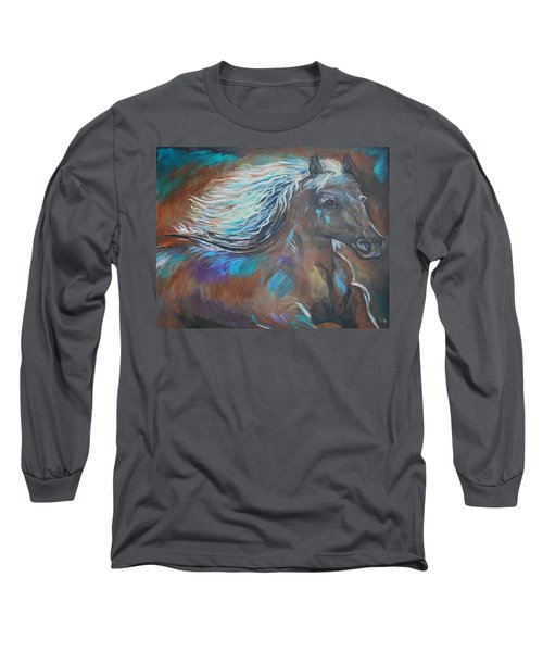 Long Sleeve T-Shirt featuring the painting Your Majesty by Leslie Allen