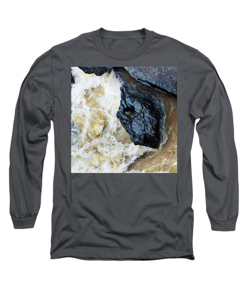 Yuba Blue Boulder In Stormy Waters Long Sleeve T-Shirt