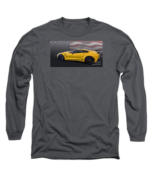 Z06 America Long Sleeve T-Shirt by Roger Lighterness