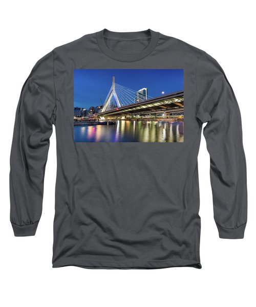 Zakim Bridge And Charles River Long Sleeve T-Shirt