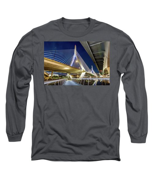 Zakim Bridge From Bridge Under Another Bridge Long Sleeve T-Shirt