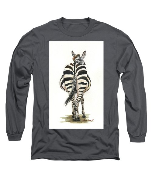 Zebra Back Long Sleeve T-Shirt
