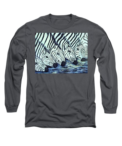 Zebra Line Long Sleeve T-Shirt