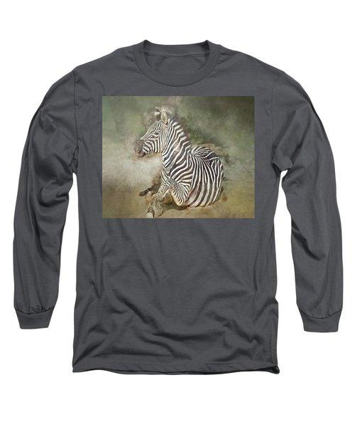 Zebra Watercolor Long Sleeve T-Shirt