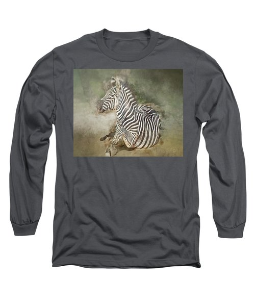Zebra Watercolor Long Sleeve T-Shirt