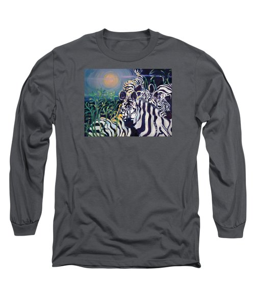 Zebras On The Savanna Long Sleeve T-Shirt