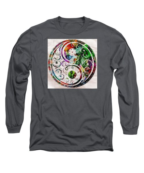 Zen Bliss Large Poster Print Long Sleeve T-Shirt