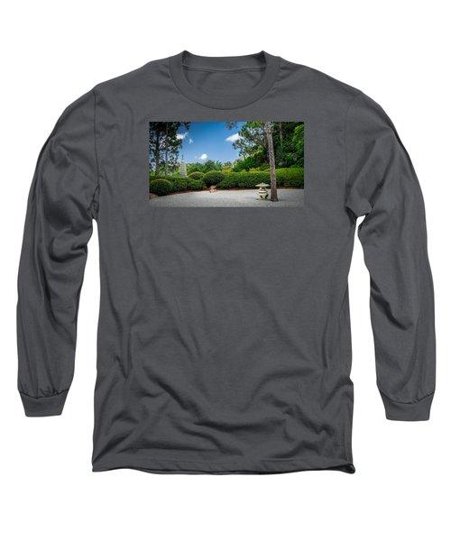 Zen Garden Long Sleeve T-Shirt by Louis Ferreira