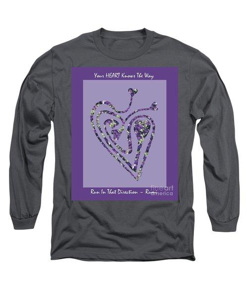 Zen Heart Labyrinth Floral Long Sleeve T-Shirt