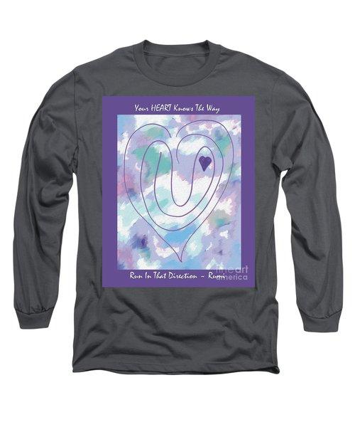 Zen Heart Labyrinth Pastel Long Sleeve T-Shirt