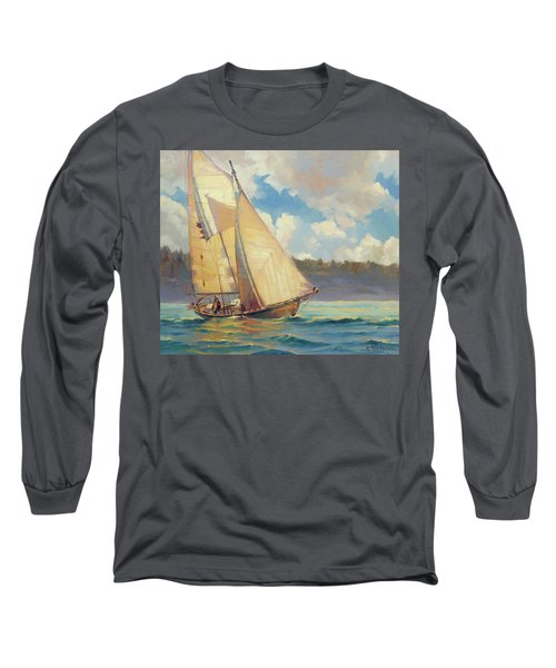 Long Sleeve T-Shirt featuring the painting Zephyr by Steve Henderson