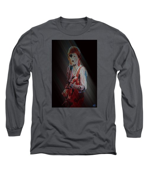 Ziggy Played Guitar Long Sleeve T-Shirt by Kenneth Armand Johnson