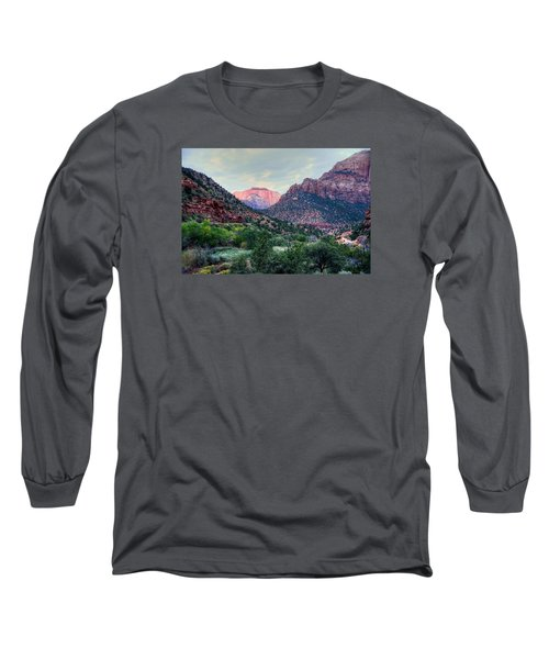 Zion National Park Long Sleeve T-Shirt by Charlotte Schafer
