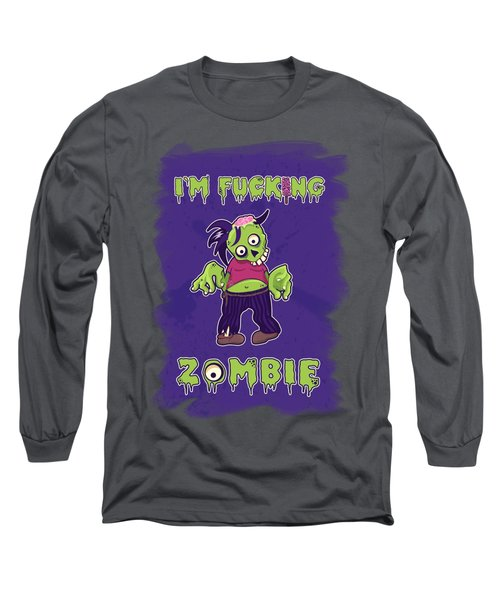 Long Sleeve T-Shirt featuring the digital art Zombie by Julia Art