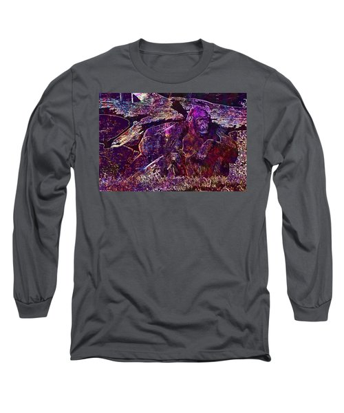 Long Sleeve T-Shirt featuring the digital art Zoo Monkey Animal  by PixBreak Art