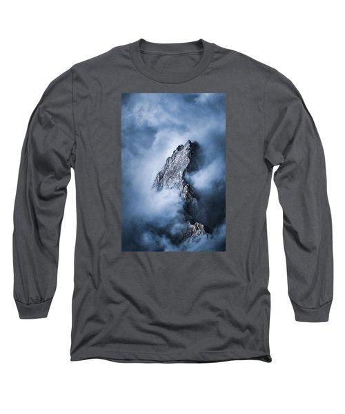 Zugspitze Long Sleeve T-Shirt by Yu Kodama Photography