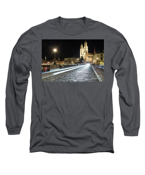 Zurich Night Rush In Old Town Long Sleeve T-Shirt